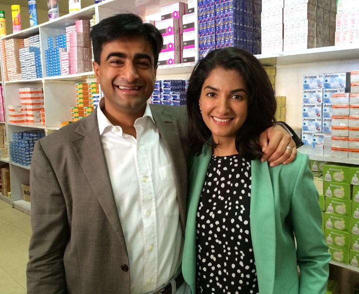 Brother and sister team, Abbas and Shalina Virji, Co-CEOs of Shalina Healthcare, a company based in Dubai and Africa 1