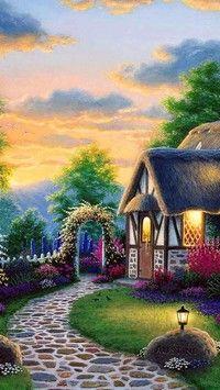 Sielski widoczek z domkiem