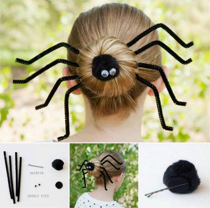 How to DIY Fun Spider Hair Bun for Halloween | www.FabArtDIY.com LIKE Us on Facebook ==> https://www.facebook.com/FabArtDIY