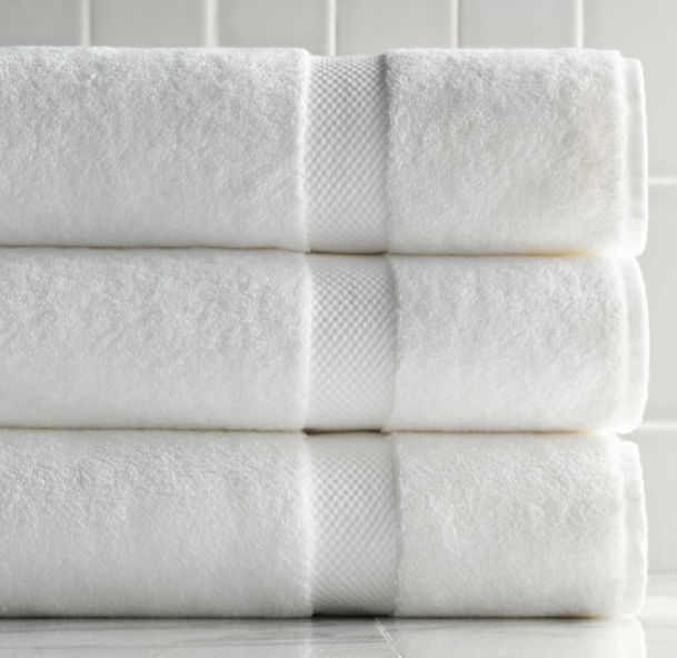 Winter is a good time to stockpile essentials; here are our picks for basic (and not-so-basic) white bath towels.