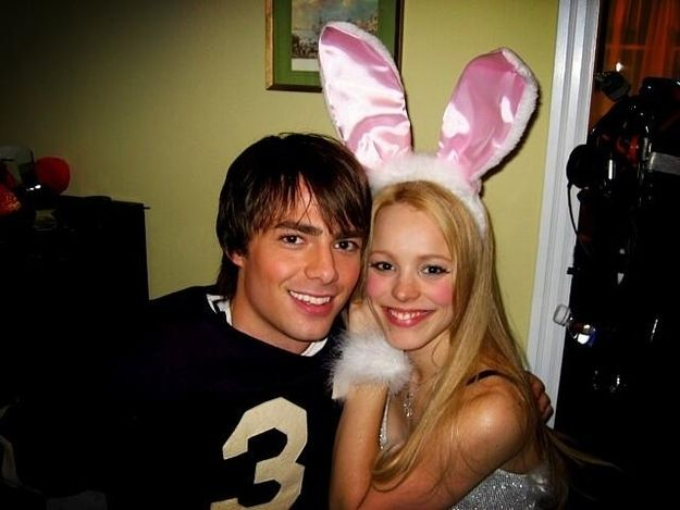 "With Regina George herself, Rachel McAdams. | Fetch Behind-The-Scenes Photos From ""Mean Girls"""