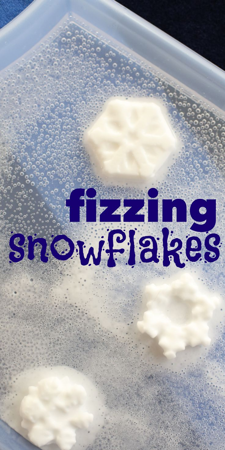Fizzing Snowflakes:  A frozen spin on the classic baking soda and vinegar science experiment!