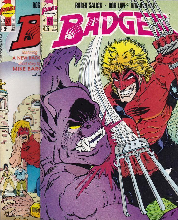 Badger #51,52,55,58,59,61-70 & Badger Image series #3 HUGE LOT First comics  | eBay http://www.ebay.com/itm/Badger-51-52-55-58-59-61-70-Badger-Image-series-3-HUGE-LOT-First-comics-/122586494481?utm_campaign=crowdfire&utm_content=crowdfire&utm_medium=social&utm_source=pinterest