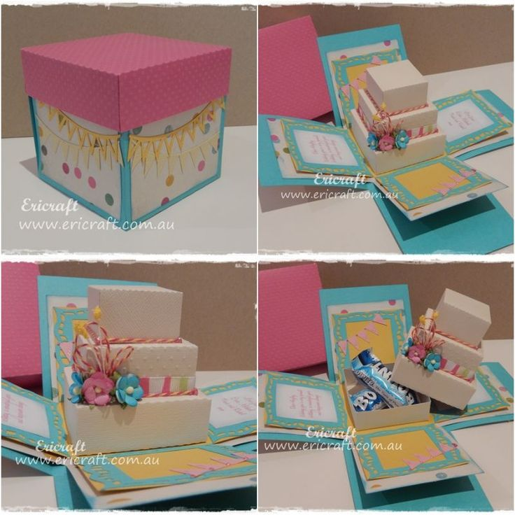 Unique Explosion Box Design Ideas On Pinterest How To Make - Creative diy birthday invitations in a box