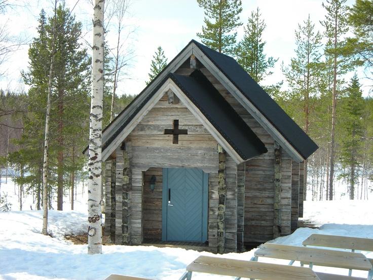 Charming Lappish church near Lainio Krouvi Ice Village, Finland ~