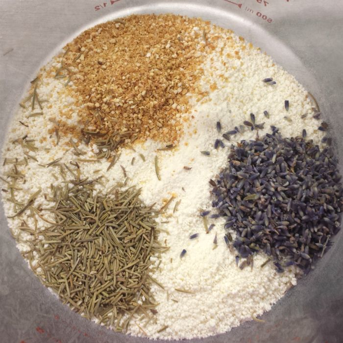 Cleopatra's Milk Bath Ingredients 2 cups powdered Milk (dry) 1 tablespoon driedOrange Peel 2 teaspoon driedLavender Flowers 2 teaspoon dried Rosemary ONE: Mix all the ingredients together in big glass bowl. TWO: Pour in a clear glass bottle and it is ready to go! Use 1/2 cup of the mixture per bath and soak for …