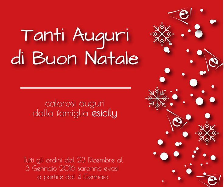 I migliori auguri di buon Natale e felice anno nuovo da #esicily!  • Gli ordini dal 23 Dicembre al 3 Gennaio saranno evasi a partire da giorno 4.  #natale #feste #complete #cibosano #motivazione #vigilia #buongiorno #navidad #santaclaus #love #family #moments #holidays #gifts #hohoho #xmastree #santa #christmastree #hapiness #present #instacool #party #2016 #winter #chirstmas #snow #xmas #presents #merrychristmas #bestoftheday #foodporn #food #auguri