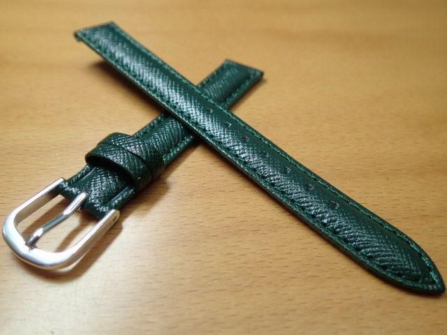 11mm ~ 14mm 時計バンド (腕時計) ベルト カーフ 牛革 グリーン (緑) バネ棒 サービス 腕時計用 時計ベルト 時計用バンド 525円で販売していますバネ棒をサービスでお付けします