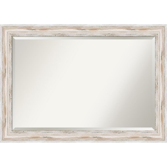 Amanti Alexandria Wall Mirror In White Wash Bed Bath Beyond