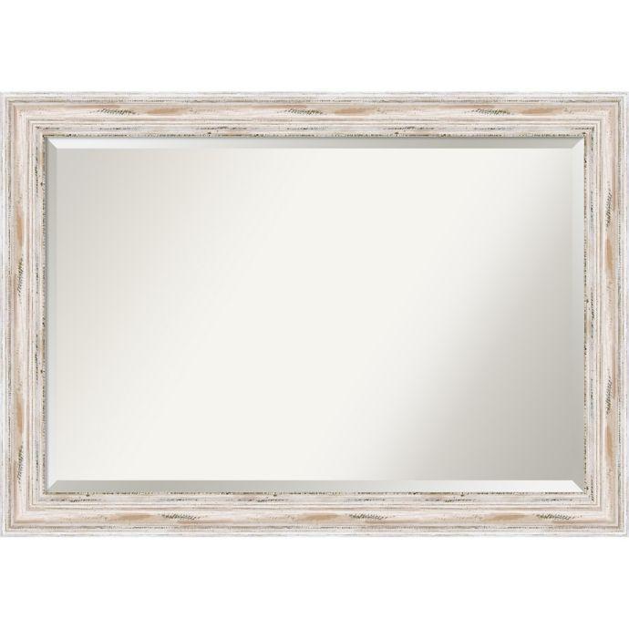 Amanti Alexandria Wall Mirror In White Wash Bed Bath Beyond
