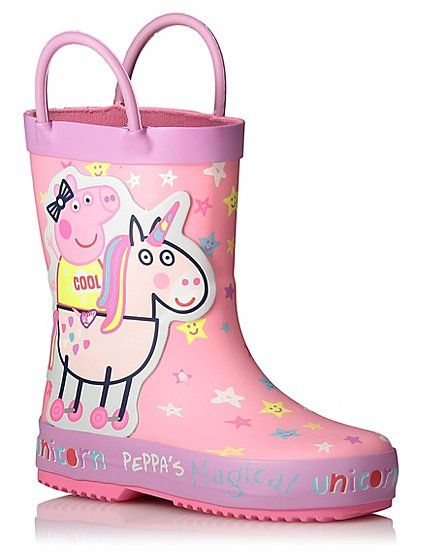 e6b6f71d Who better to accompany your little one while splashing in puddles than  their favourite character Peppa Pig? This adorable pair comes in a pretty  unicorn ...