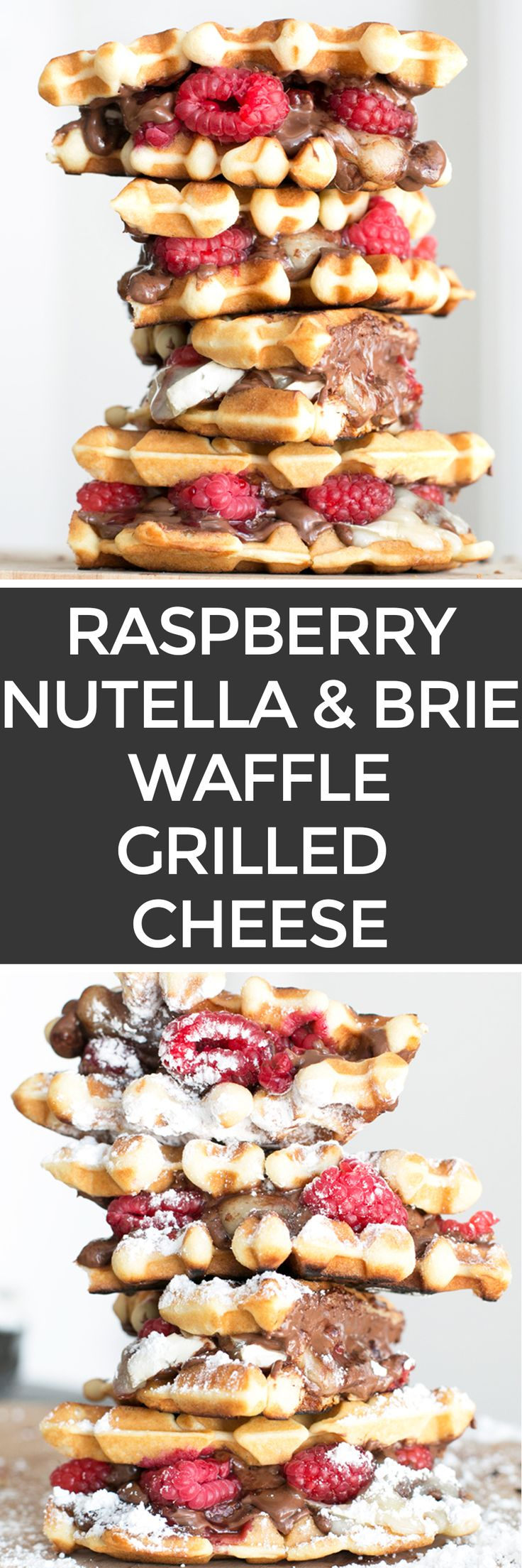 Raspberry Nutella Brie Waffle Sandwiches   cakenknife.com                                                                                                                                                     More