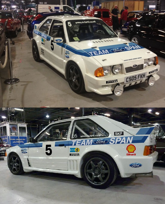 Ford escort rs1700t track car.
