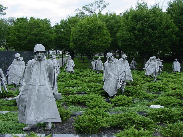 A Must See at Night! Korean War Memorial in Washington DC. Photo by david_e_waldron, via Flickr -