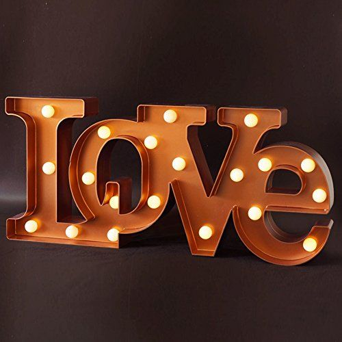 bright zeal decorative led lighted quotlovequot letters 18quot x 8 With decorative letters with lights