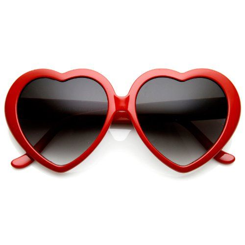 Large Oversized Womens Heart Shaped Sunglasses Cute Love Fashion Eyewear for only $1.23 You save: $28.77 (96%)