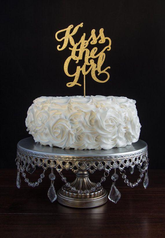 Wedding Cake Topper- Kiss the Girl-Disney Inspired-The Little Mermaid
