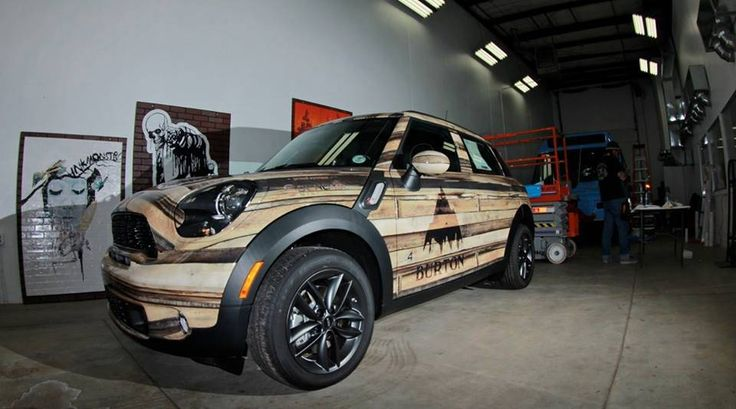 2014 Burton Schomp MINI 'Woody' | Custom wrap | Dream car ...