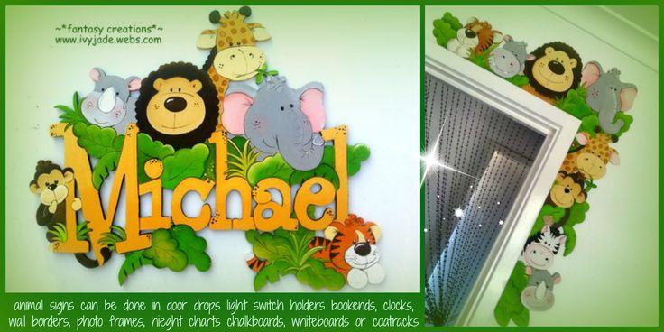 animal signs for kids... custom made...you choose fonts, design, colors, size ivyjade.webs.com