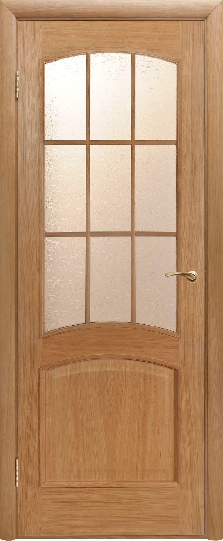 """Межкомнатная дверь """"Капри 3"""", по, дуб светлый"""
