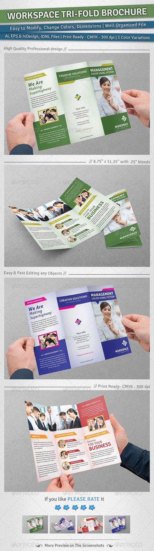 making a tri fold brochure