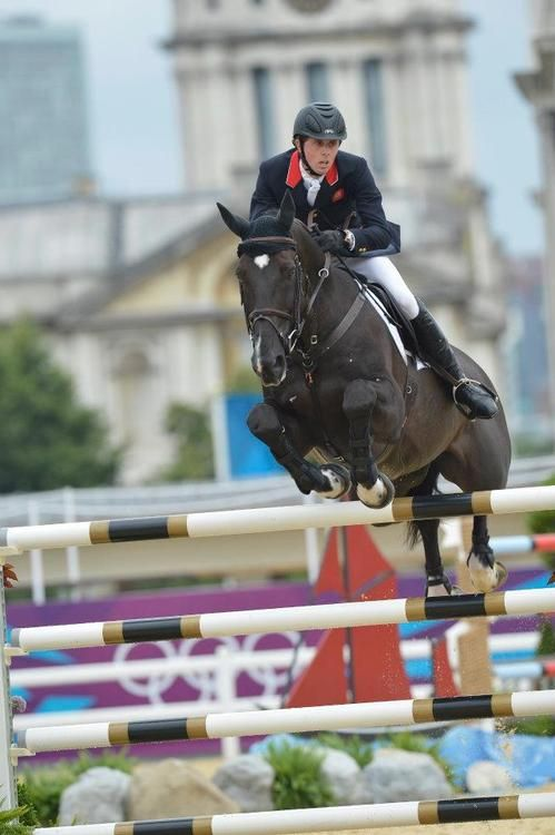 Ben Maher GBR riding Triple X at the London 2012 Olympic games