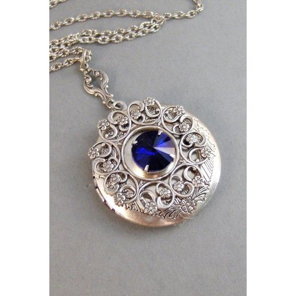 Blue Lace,Locket,Necklace,Silver Locket,Sapphire Stone,Blue... ❤ liked on Polyvore featuring jewelry, antique silver jewellery, blue sapphire jewelry, sapphire jewelry, silver jewelry and stone jewelry