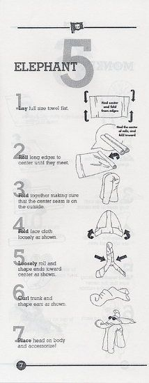 For BABAR's 80th birthday - How To: Fold a Towel Like an Elephant