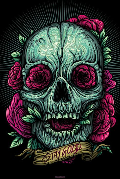 Skull art by Dan Mumford.