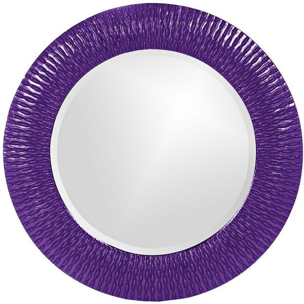 "Howard Elliott Bergman 32"" Round Royal Purple Wall Mirror (430 AUD) ❤ liked on Polyvore featuring home, home decor, mirrors, purple, purple home decor, round framed mirror, framed mirrors, round wall mirror and purple wall mirror"
