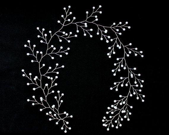 Pearl wedding vine Pearl vine for bride bridal by Jewelryforhair