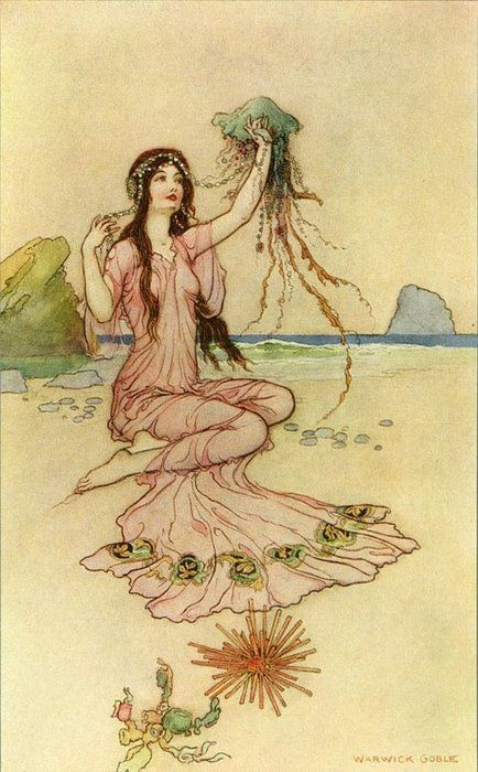 """What form she pleased each thing would take...That e'er she did behold.""  Illustrated by Warwick Goble"