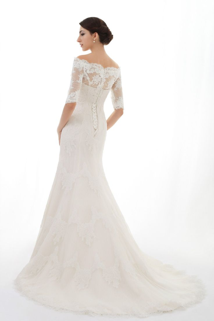 Lace wedding dress strapless dress with beading details for Lace sleeve corset wedding dress