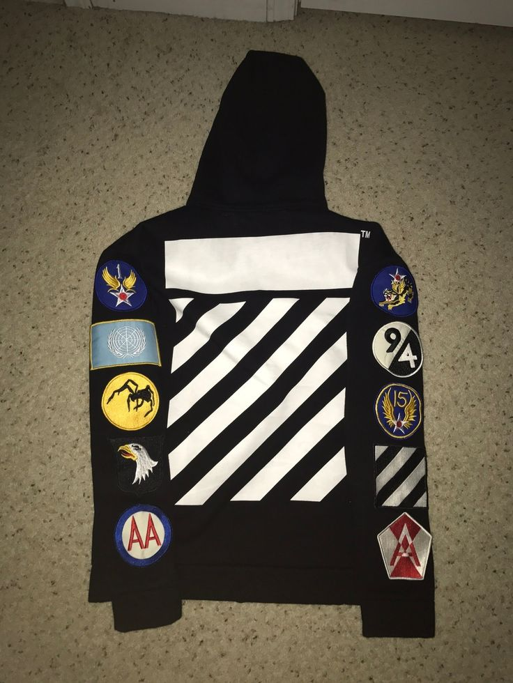 Off White Off White Patch Detail Hoodie Size M $429 - Grailed