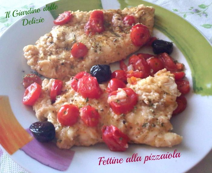 Fettine alla pizzaiola/microonde, ecco un gustoso secondo piatto, velocissimo, con il minimo di grassi e quindi molto, molto dietetico ma saporito.