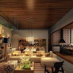 Salas de estilo moderno por SESSO & DALANEZI