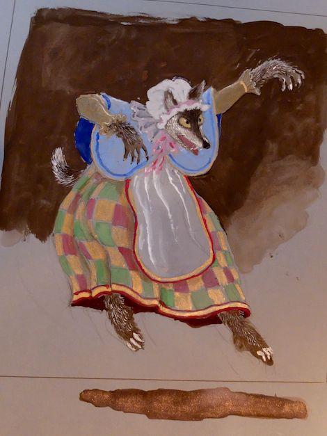 Toer van Schayk, kostuumontwerp voor De Wolf in The Sleeping Beauty, Tokyo 2014. Collectie: privécollectie.
