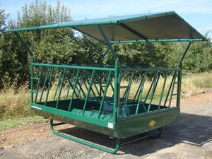 Diller Hfs 8808cr Cattle Round Bale Feeder With Roof And