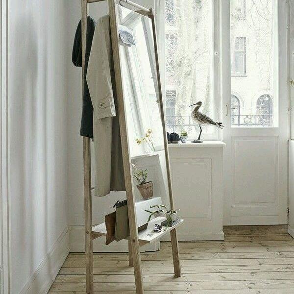 """--- Jualan baju? Punya butik? Perlu rak gantungan baju yang menarik? --- Silahkan langsung hubungi kami! --- Rak (kode : G-002) --- Ukuran : panjang 50 cm tinggi 180 cm lebar 40 cm --- Excluded baju, topi dan aksesoris lainnya --- Included cermin --- Bahan kayu meranti Finishing natural (sanding) --- Harga : Rp. 1.300.000 --- Ongkos kirim untuk wilayah Medan gratis --- """"Gambar ini kami ambil dari media sosial pinterest"""" --- #raftorigin #furniture #perabot #medan #madebyorder #perabotcustom…"""