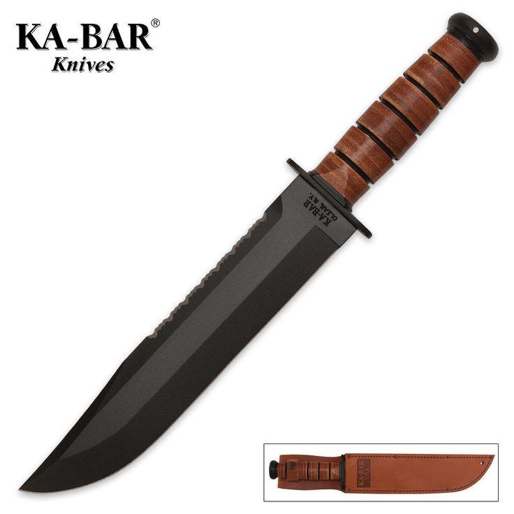 Ka-Bar BIG BROTHER Fixed Blade Fighting Knife Leather Handle 2217 NEW #KaBar