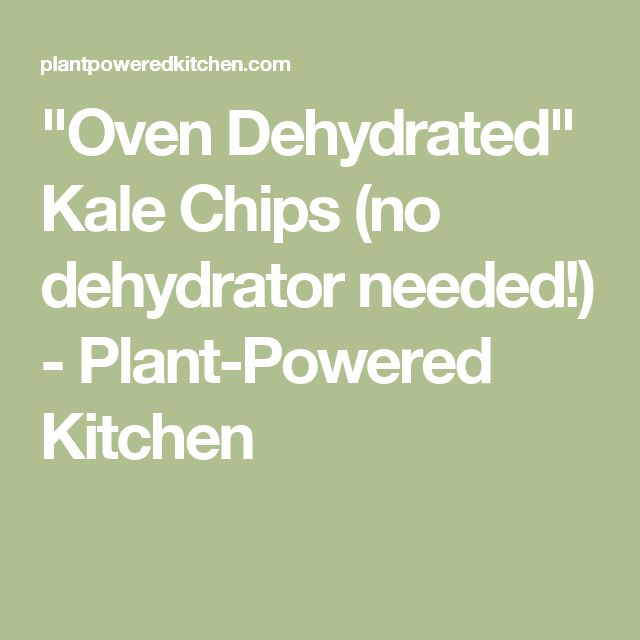 """""""Oven Dehydrated"""" Kale Chips (no dehydrator needed!) - Plant-Powered Kitchen"""