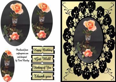 black lace rose on Craftsuprint - Add To Basket!