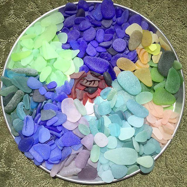 San Franciso Bay sea glass collection - Photo from sfbayseaglass