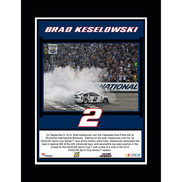 "Brad Keselowski Fanatics Authentic 10.5"" x 13"" 2014 Federated Auto Parts 400 at Richmond International Raceway Race Winner Sublimated Plaque - $29.99"