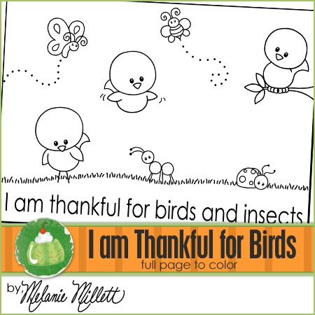 birds and insects coloring pages i am thankful for birds and insects coloring page
