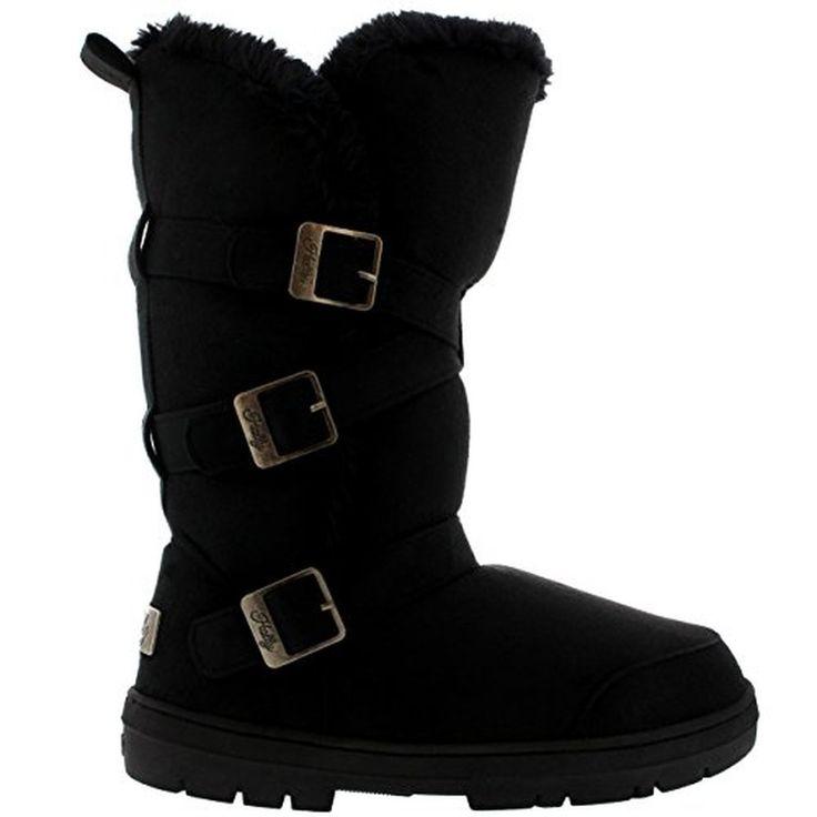 Femmes Triplet Boucle Haut Fourrure Entièrement Doublé Étanche Hiver Pluie Neige Bottes #Bottesetboots #chaussures http://allurechaussure.com/femmes-triplet-boucle-haut-fourrure-entierement-double-etanche-hiver-pluie-neige-bottes/