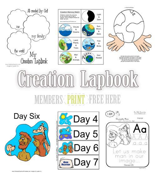 Free Creation Lapbook