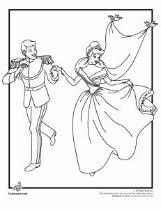 Cinderellas Wedding Coloring Page Do Each Princess And Make A Book For Flower Girls