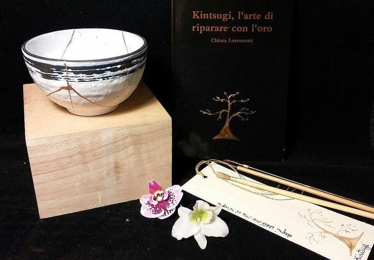 Kintsugi, l'arte di riparare con l'oro. Libro e piccola ciotola di KintsugiArteCeramica su Etsy