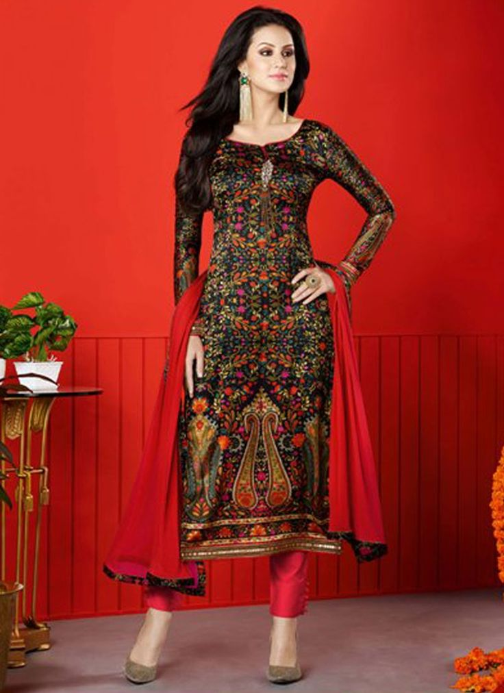 Buy Integral Brown Satin Churidar Designer Suit, Online #churidarsuits #salwarkameez